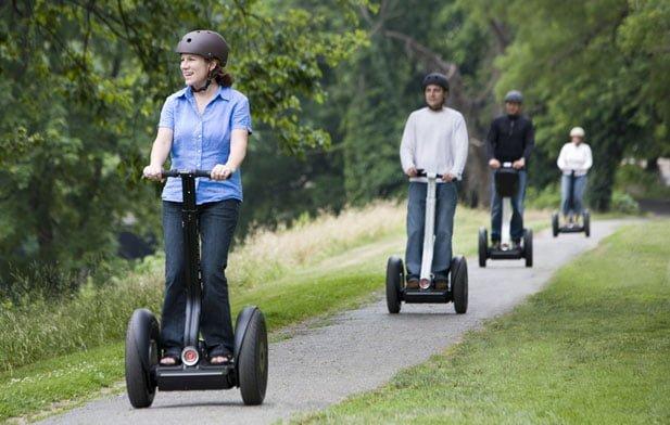 På tur med ståhjuling - Segway